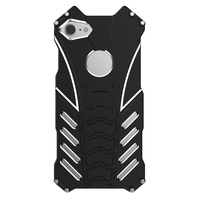 R JUST Aluminum Metal Bumper Frame Armor Protective Shockproof Anti Drop Phone Case Cover for iPhone 7/8 4.7 inch