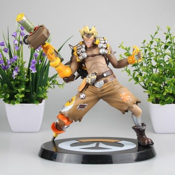 Hot Game OW Jamison Fawkes PVC Action Figures Collectible Junkrat Model Doll Birthday Gift 23cm фото