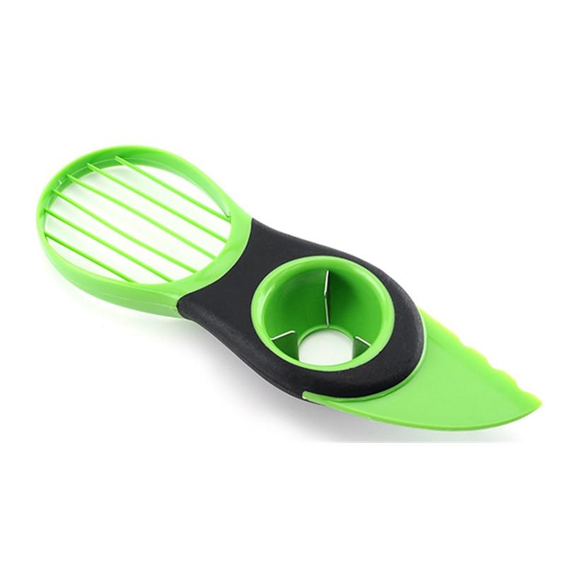 3 en 1 rebanadora de aguacate pelador herramientas de corte multifunción separador de fruta cuchillo de plástico cuchara para pelar separador aparato herramienta Cocina