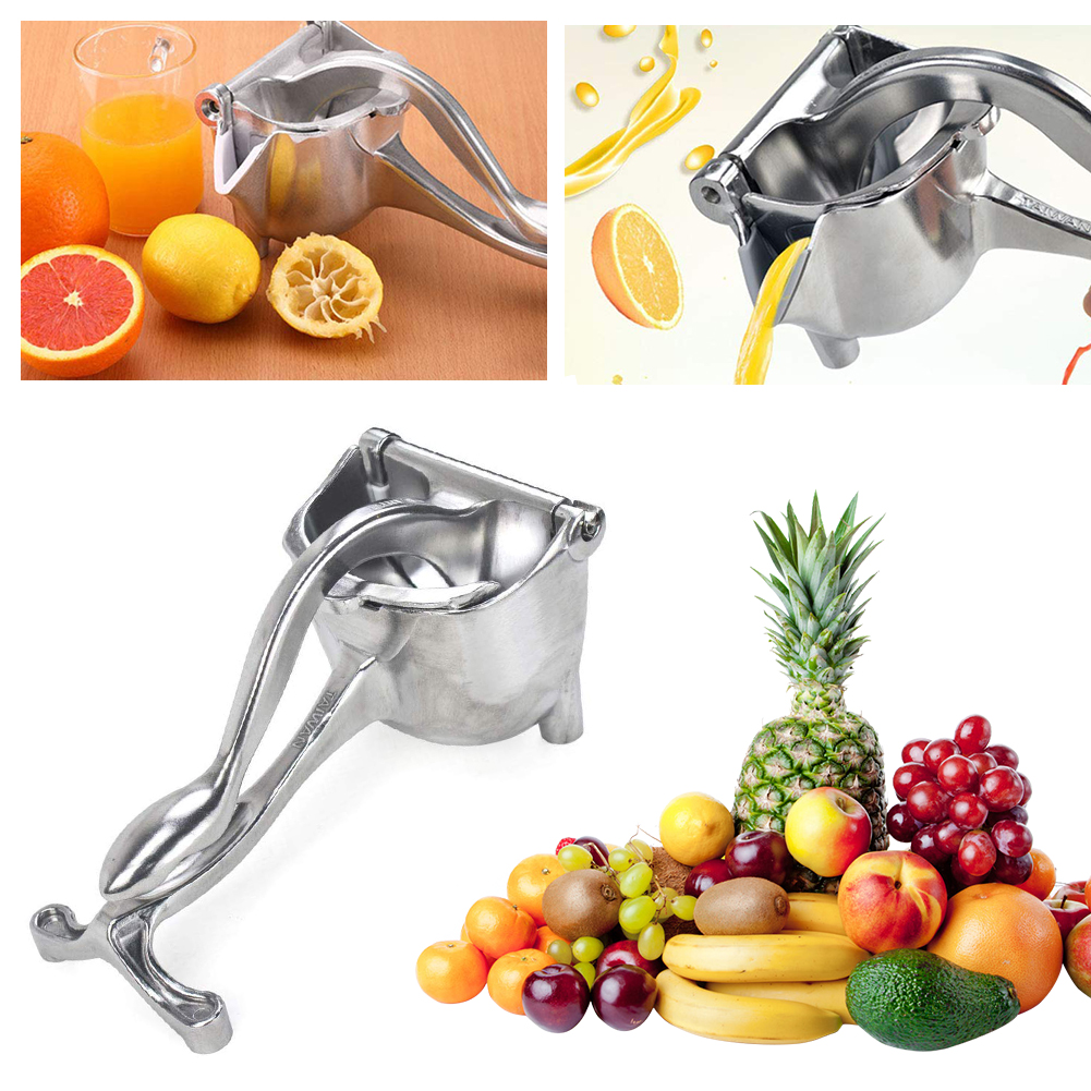 Thickened Manual Fruit Juicer Alloy Lemon Squeezer Citrus Press Heavy Duty Hand Press Fruit Juicer Detachable Lime Squeezer Tool