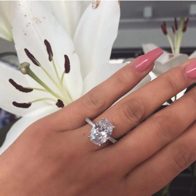 40 Styles Promise ring Real 925 Sterling silver AAAAA Cz Stone Statement Party Wedding Band Rings for women Engagement Jewelry 4