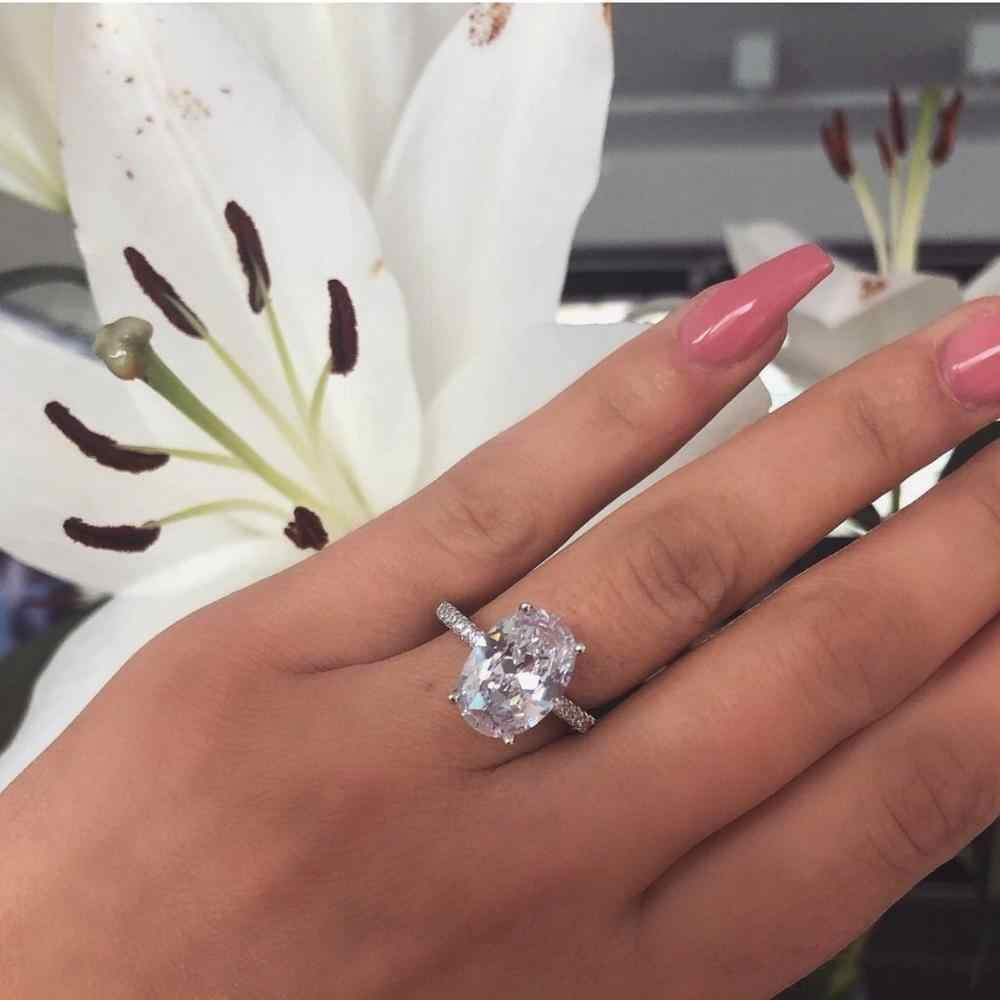 40 style pierścień przyrzeczenia prawdziwe 925 srebro AAAAA Cz kamień komunikat Party obrączka pierścionki dla kobiet biżuteria zaręczynowa
