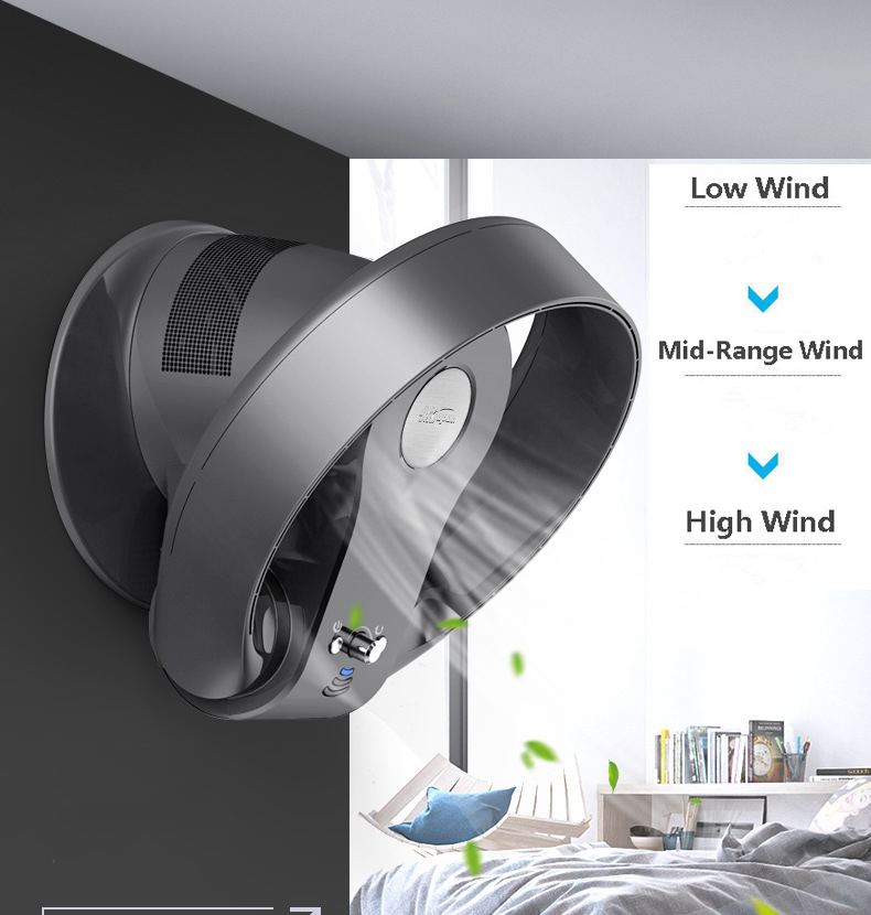 Super Quiet Variable Speed Non-blade Bladeless Fan Home Office Has The Remote Timing Function Folding Fan 12 Inches