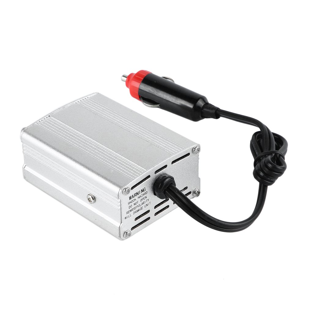 700W Silver Power Inverter Adapter Car Converter 12V to 110V 220V Input Car Power Converter Vehicle Power Supply Charger UK Plug
