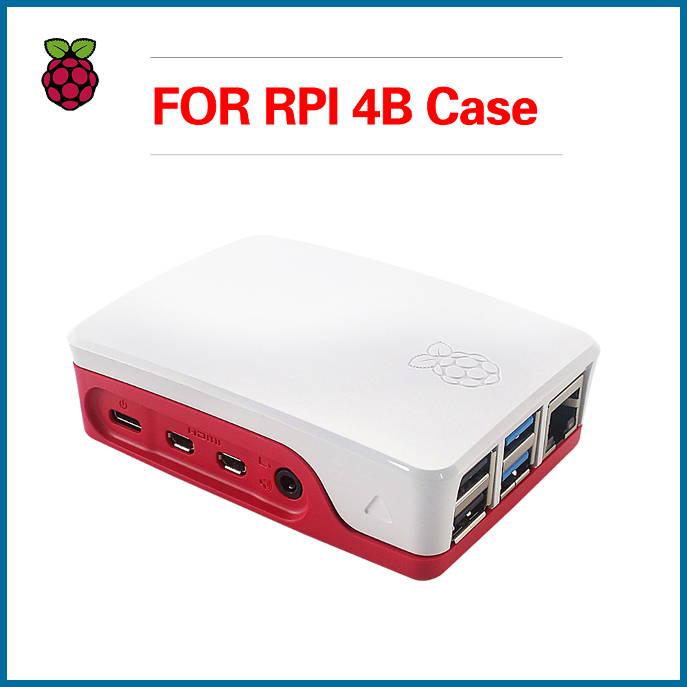 S ROBOT Official Raspberry Pi 4 Case Plastic Box Enclosure Shell Raspberry Pi 4B Case RPI143