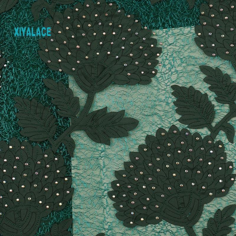Африканская кружевная ткань высокого качества кружева новая швейцарская вуаль кружева швейцарская добавить камни нигерийские кружева вуаль ткань YA2847B-3