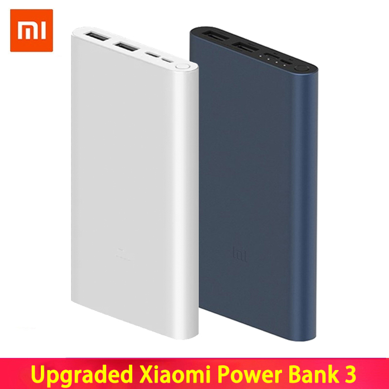 <font><b>Xiaomi</b></font> Mi <font><b>Power</b></font> <font><b>Bank</b></font> <font><b>3</b></font> <font><b>10000mAh</b></font> External Battery <font><b>Bank</b></font> 18W Quick Charge Powerbank 10000 with USB Type C for Mobile Phone image