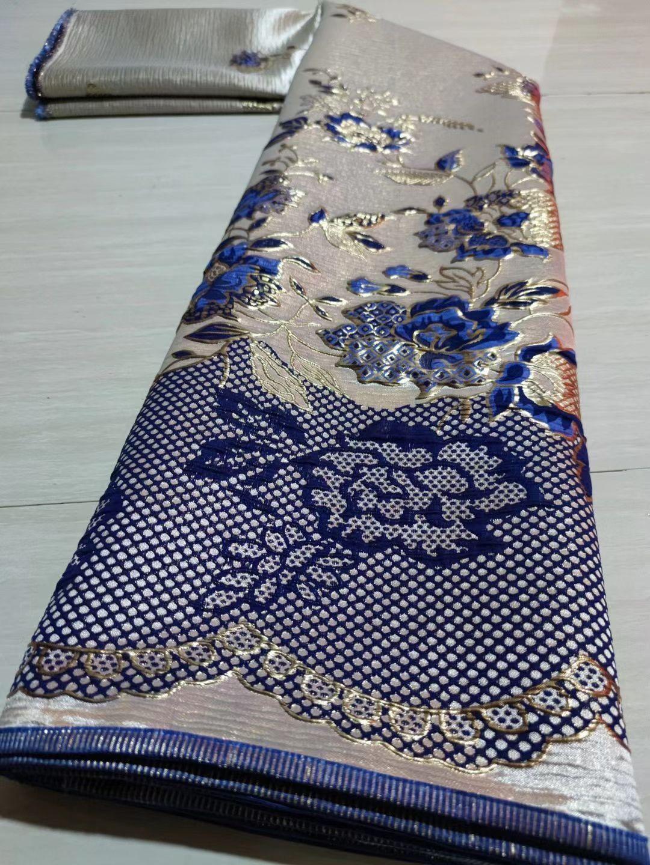 2021 5 Yards High Quality African Jacquard Lace Fabric Brocade Cloth Nigerian DIY Dress Material Tissu Telas For Sewing DJB9
