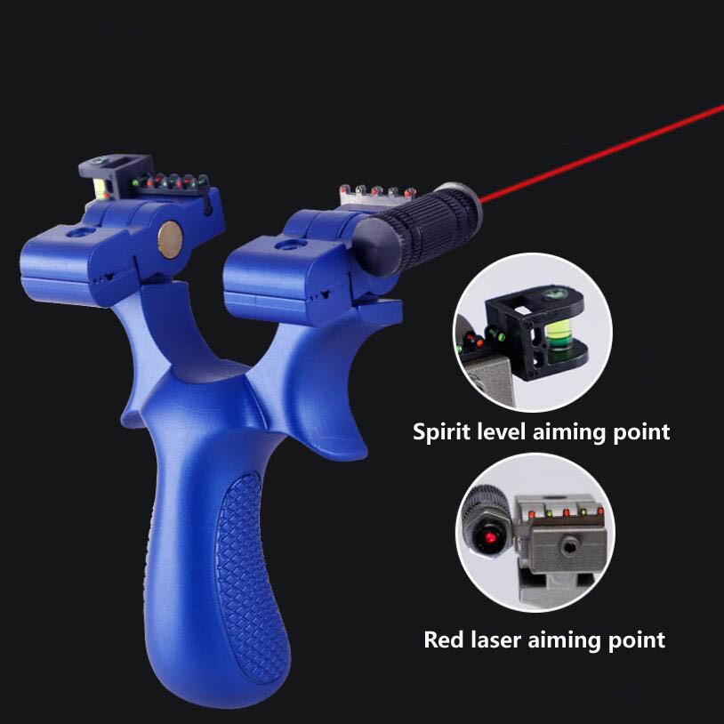 New Resin Slingshot Powerful Catapult Laser Aiming Point With Rubber Band Outdoor Hunting Shot