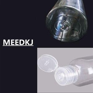 1 шт. прозрачная бутылка из ПЭТ с бабочкой, косметическая бутылка с откидной крышкой, 10, 20, 30, 50, 100 мл, пластиковая бутылка, мини-бутылка