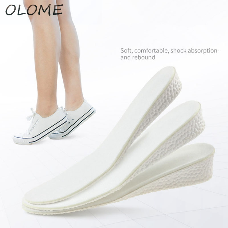 1 Pair Popcorn Heightening Exercise Shock Absorber Insole Basketball Shock Absorption Breathable Elastic Soft Boost Insole