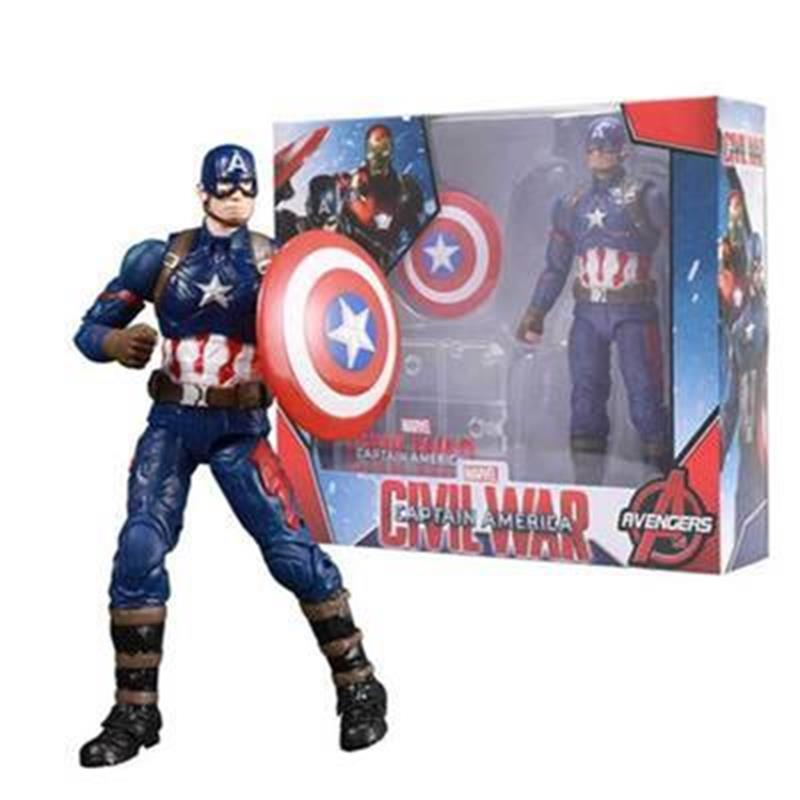 7'' Marvel Avengers Legends Iron Man Captain America Vision Falcon Scarlet Witch Ant Man Joints Movable Action Figure Toys Dolls