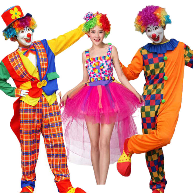 <font><b>Halloween</b></font> <font><b>Sexy</b></font> Fantasy Clown Dress Funny Circus Fairy Princess Cosplay <font><b>Costumes</b></font> Women <font><b>Men</b></font> Carnival Party Rainbow Clothes Adult image