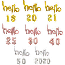 Balões laminados de alumínio em ouro rosado, 30 balões para decoração de festas infantis, aniversário, números 18, 20, 21, 25, 30, 40, 50 para 2020 ano novo