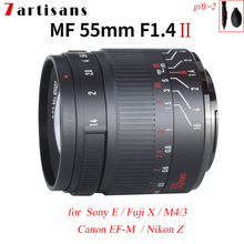 7artisans 55mm F1.4 II APS C Mirrorless Camera Lens for Nikon Z Fuji X Sony E Olympus M4/3 Canon EOS M EF M lumix Manual Focus