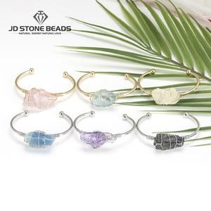 Женский браслет с натуральным аметистом, цитрина, флюорит, исцеляющий розовый кристалл, энергия, ювелирное изделие