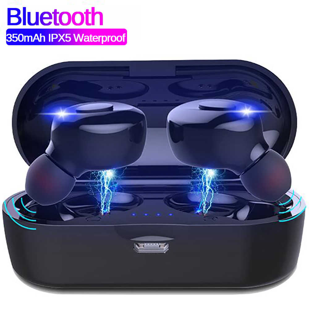 XG14 TWS Bluetooth 5.0 Wireless Earphone Power In Ear Mini Earbuds HiFi 5D Stereo Sport Earphone IP5 Waterproof Headset Headfree