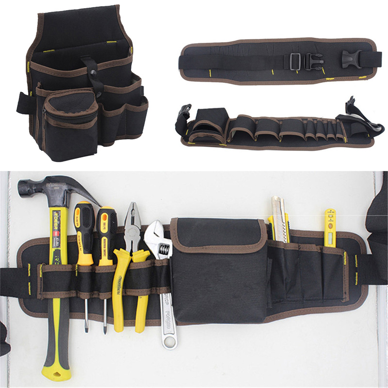 Multifunctional Tools Bag Large Capacity Waist Pockets Electrician Carrying Pouch Oganizer Hanging Bag Tool Case Apron Belt Bag