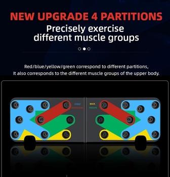 9 w 1 stojaki Push-Up deska Push Up kulturystyki Home Fitness ćwiczenia narzędzia mięśnie sporty treningowe stojak na siłownię mężczyźni kobiety tanie i dobre opinie CN (pochodzenie)