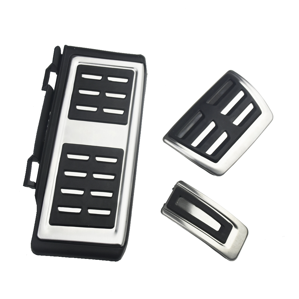 Stainless Steel Pedal Cover For VW T-Roc ROC <font><b>Tiguan</b></font> 2017 2018 <font><b>2019</b></font> T-Cross Car Styling <font><b>accessories</b></font> image