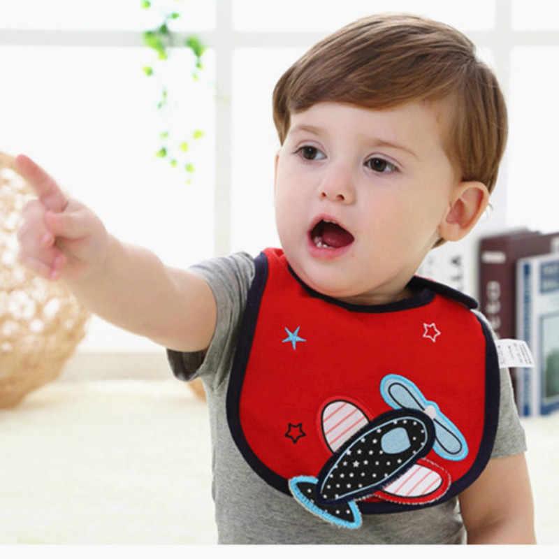 1PC 만화 아기 Bibs 옷 코 튼 방수 먹이 앞치마 조정 가능한 3 레이어 소녀 소년 신생아 0-3 년 통풍 Ccarf