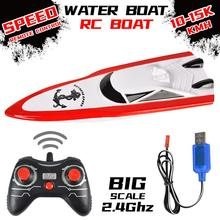2.4G Premium Quality Remote Control Boat Electric Boat Model High Speed Remote Control Racing Ship Water Speed Boat Children Mod