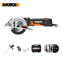 WORX 500W Electric Saw WX439 120mm Circular Saw Home DIY Power Tools +Injection Tool Box/Case Lightweight Powerful Free Shipping