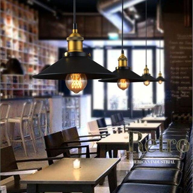 decoration salon Edison Loft Style Vintage Industrial Retro Pendant Lamp Light e27 Holder Iron Restaurant Bar Counter Bookstore 3