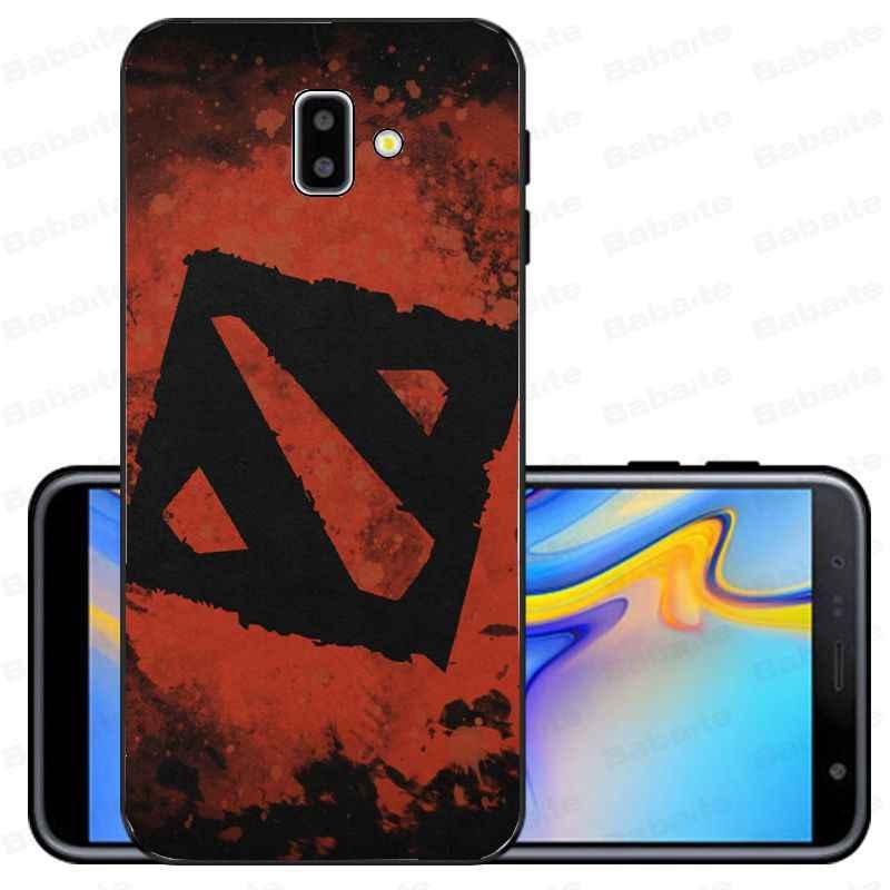 Lót Chuột Dota 2 Juggernaut Sven TPU Đen Điện Thoại Ốp Lưng Dùng Cho Samsung Galaxy J6 Plus A6 A8 A9 A10 A30 a50 Bao