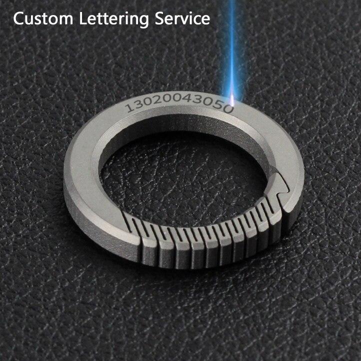 Unisex Key ring Men Women Titanium Alloy Outdoor Car Key ring Organizer