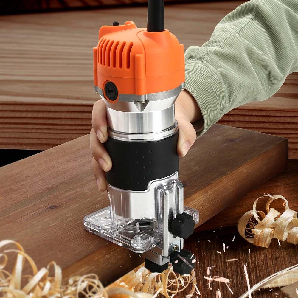 6.35mm mandril aço inflexível roteador madeira ferramenta elétrica mão trimmer