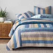 CHAUSUB хлопковое покрывало, набор пододеяльников и шамов, 3 шт. покрывала, лоскутное одеяло ручной работы, Стёганое одеяло, s покрывало на кровать, большой размер, плотное одеяло