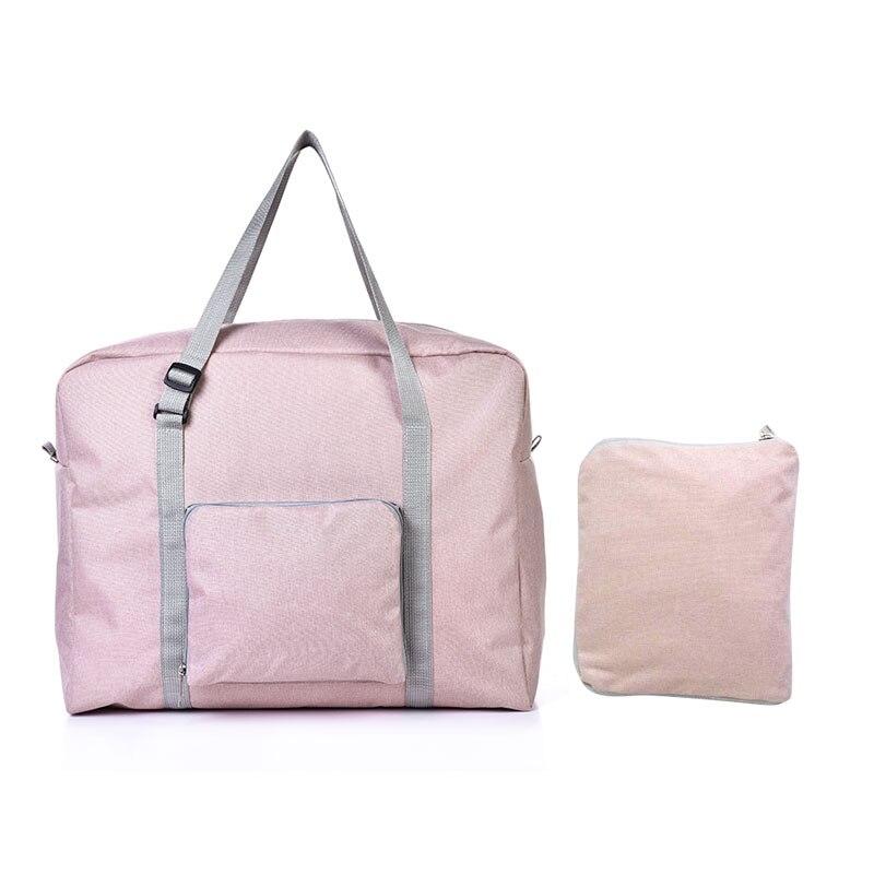 Мужские дорожные сумки, водонепроницаемая нейлоновая складная сумка для ноутбука, вместительная сумка для багажа, дорожные сумки, портативные женские сумки - Цвет: beige