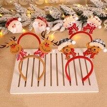 1 шт., милый Рождественский орнамент, Санта Клаус, олень, снеговик, подвеска, обруч, дерево, украшения, обруч на голову, рождественские, вечерние, подарок