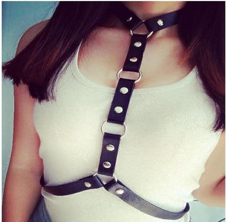 Sexy White Collar Formal Wear Belt Pu Fashion Suspender Strap, Suitable Every Shirt Neck Camisole