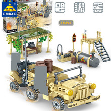 415Pcs Military American Willys Jeep Car Bricks Building Blocks Sets Army Educational Toys for Childrenlegoinglys