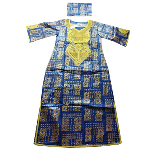 Image 2 - MD 2020 new africa dresses for women bazin dashiki african women dresses embroidery women african clothing dress and head wraps
