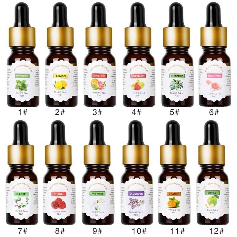Wasser-löslich Blume Obst Ätherisches Öl Für Luftbefeuchter Duft Lampe Aromatherapie Diffusoren Air Auffrischung Aromatherapie TSLM1