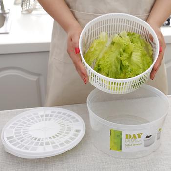 Kuchnia sałatka suszarka warzywa owoce kosz spustowy odwadniacz wstrząsnąć kosz wody wielofunkcyjne narzędzia do sałatek kuchennych tanie i dobre opinie Na stanie Ekologiczne Sałatka spinners Vegetable Dryer CE UE Other