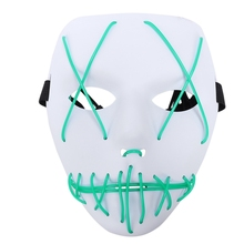 3-Modes Halloween Scary Mask Cosplay Led Light Up Costume Mask The Purge Movie halloween led skull mask purge masks election mascara costume purge movie el wire dj party lighting glow in dark cosplay masks