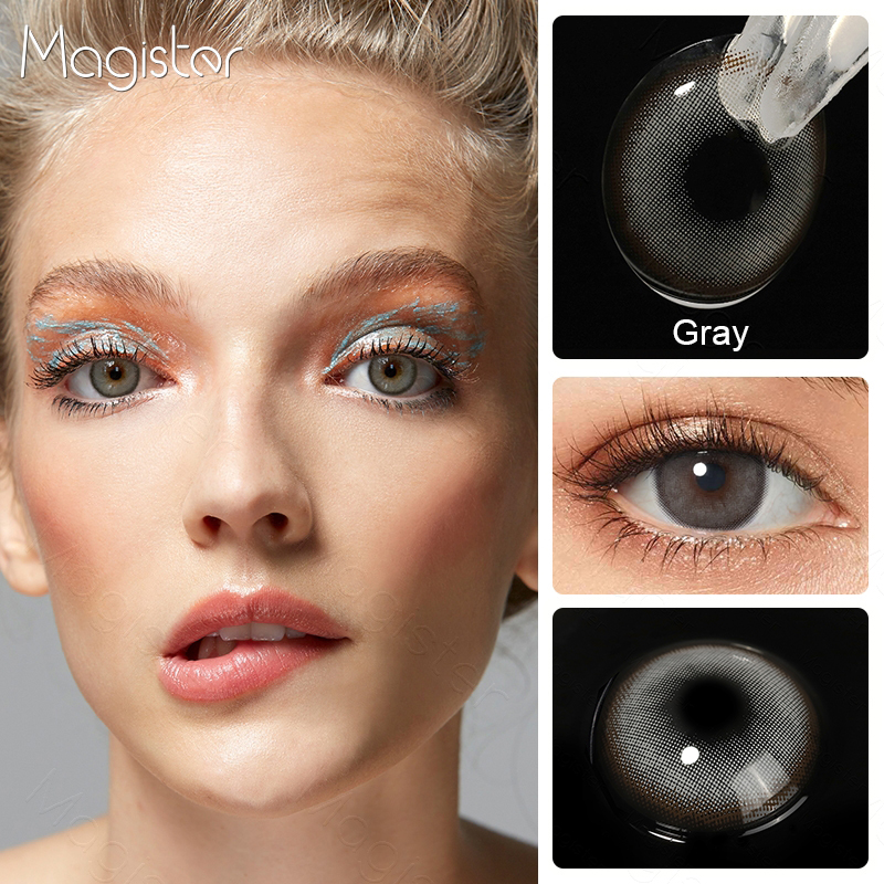 2pcs/Pair Contact Lenses Colored Contact Lenses for Eyes Colored Yearly Blue Brown Colorful Beauty Eye Contact Lenses Eye Color 4