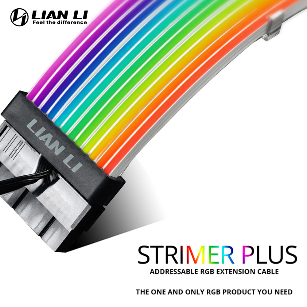 Extension Cable Kit Lian Li Strimer Plus Rgb Pc Addressable 5v A-Rgb Cable For Motherboard Atx 24pin PCI-E Gpu 8pin Formulamod
