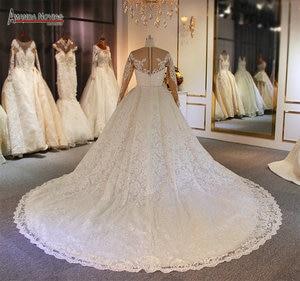 Image 4 - Luxury 2 in 1 wedding dress full lace mermaid wedding dress with detachable skirt