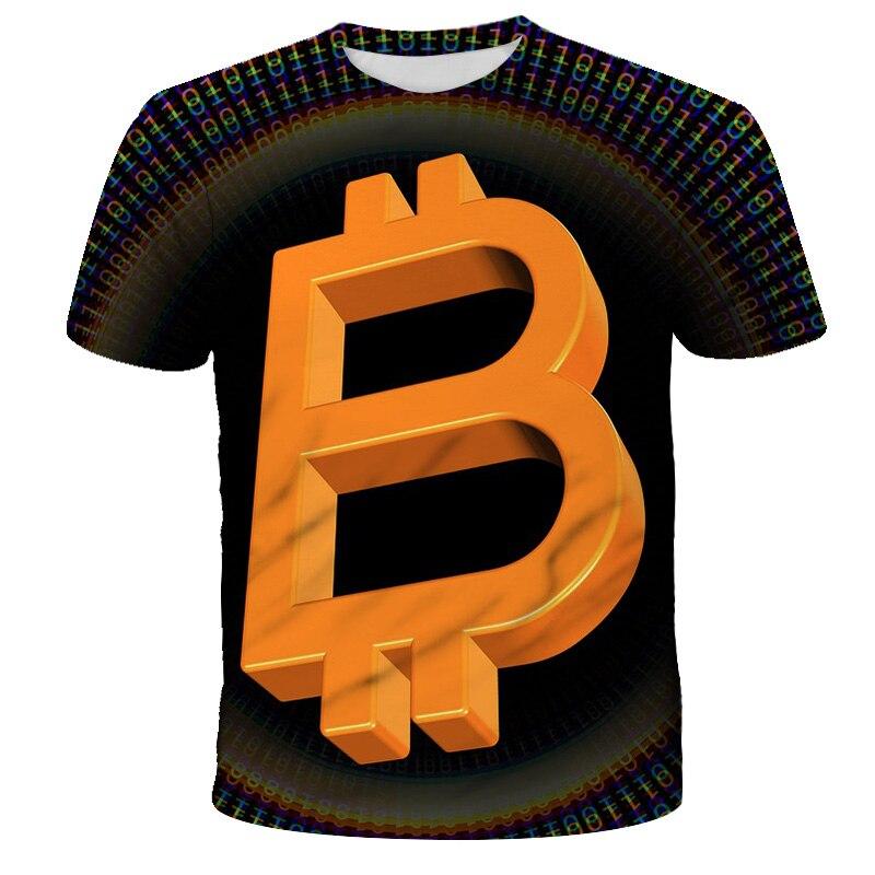 2021 kids t-shirt trend 3D printed t-shirts boys girls fashion short sleeve BTC tshirts Bitcoin Child t-shir DIY 4T-14T 3