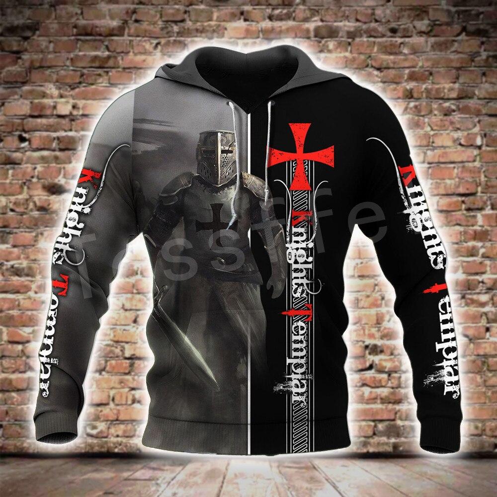 Tessffel Knight Templar Armor Streetwear Harajuku Pullover NewFashion Funny 3DPrint Zip/Hoodies/Sweatshirts/Jacket/Men/Women A-2