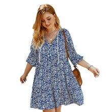 Женское платье с v образным вырезом и рукавами фонариками