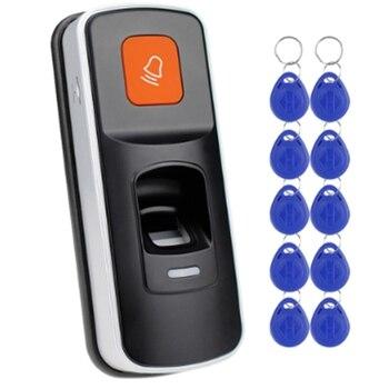 RFID Standalone Vingerafdruk Slot Toegangscontrole Reader Biometrische Vingerafdruk Toegang Controller Deuropener Ondersteuning Sd-kaart Deur