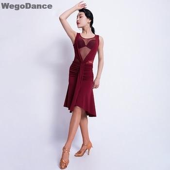 Latin Dance Costume Mesh Women Latin Dance Competition Dress Latin Dance Dresses Sleeveless Latin Dance Dresses With Underpant gisbert brom bullarium trajectense latin edition