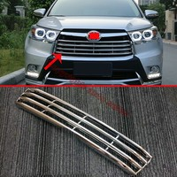 ABS Chrome Front Grille Cover Trim For Toyota Highlander 2014-2017
