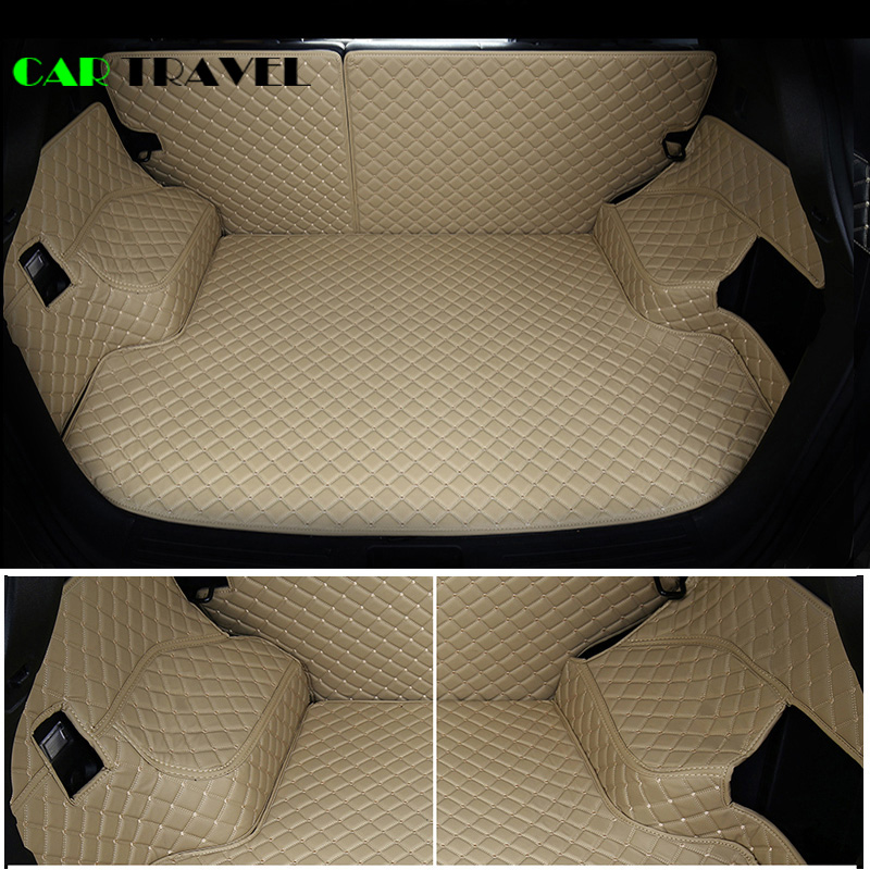 Image 3 - Custom leather Car Trunk Mats For Nissan X Trail Rogue XTrail T30 T31 T32 2001   2018 Rear Trunk Floor Mat Tray Carpet Mud